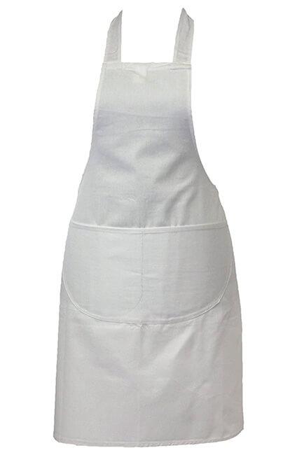 Delantal cocinero blanco