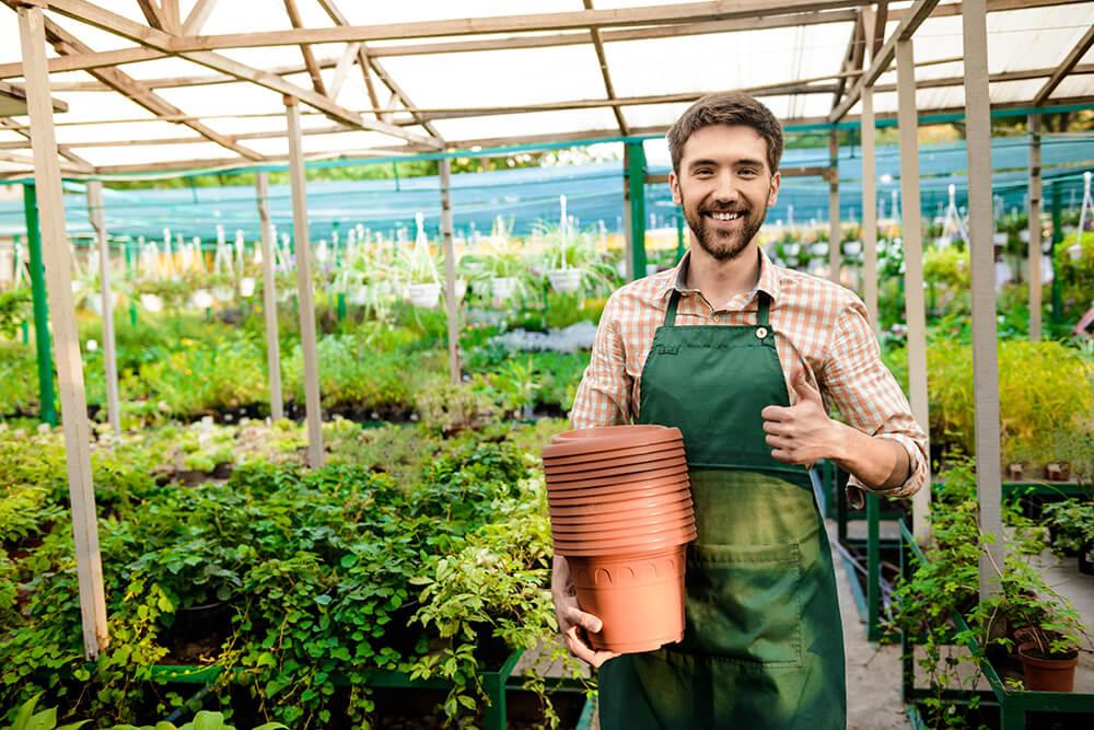 Delantal protección jardín