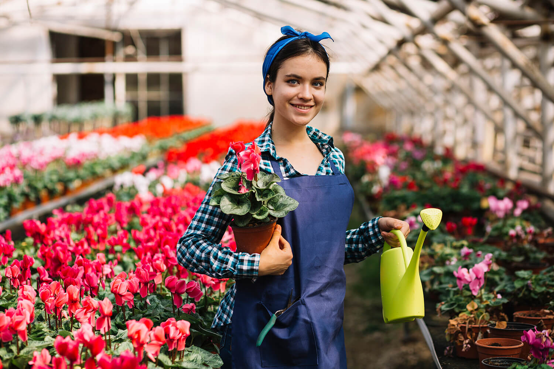 Delantal protección jardinería