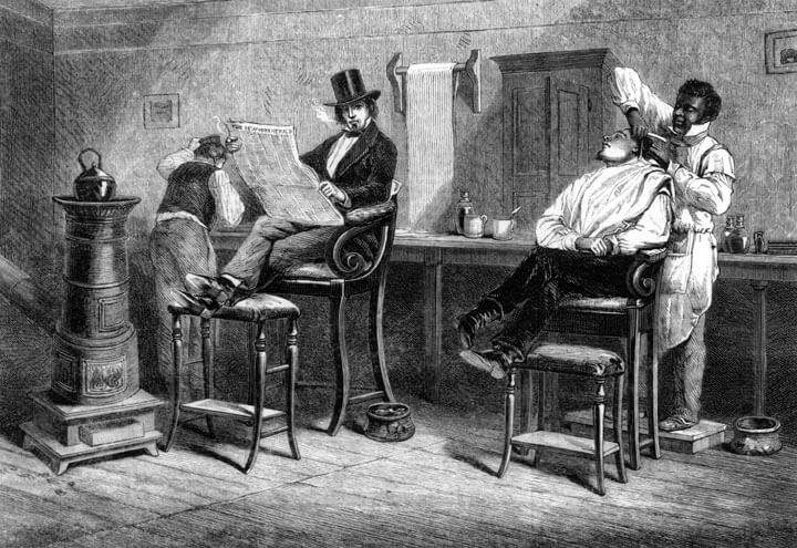 Historia delantal barberos